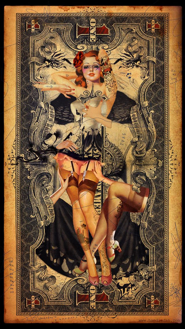 Handiedan - Retro Pin-Up Collage Art - Art Curator & Art Adviser. I am targeting the most exceptional art! Catalog @ http://www.BusaccaGallery.com