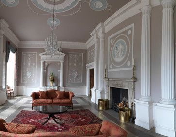 Robert Adam Interiors | Apartment in a Robert Adam Country House -  traditional - living room