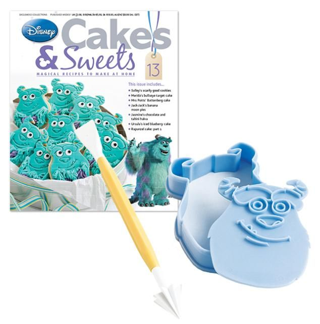 This Monsters Inc cak is ideal for any fan. Get the magazine an mould at https://www.mycollectionshop.com/disney-cakes-and-sweets/issue-13