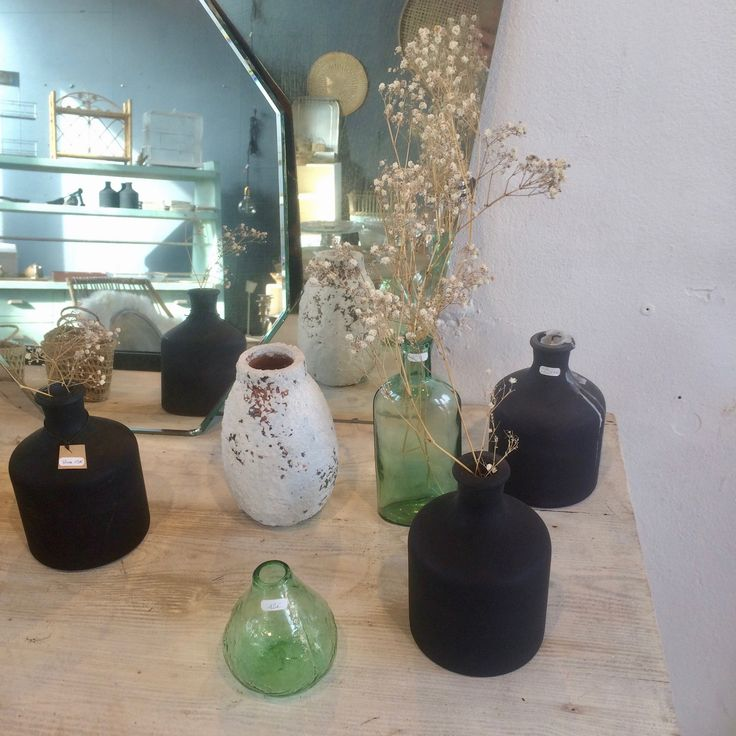 Image of Vase noir mat