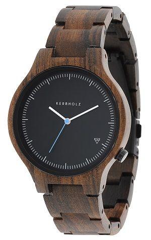 Modische Uhr aus Sandelholz http://www.uhrcenter.de/uhren/kerbholz/uhren/kerbholz-lamprecht-sandelholz-holzuhr/