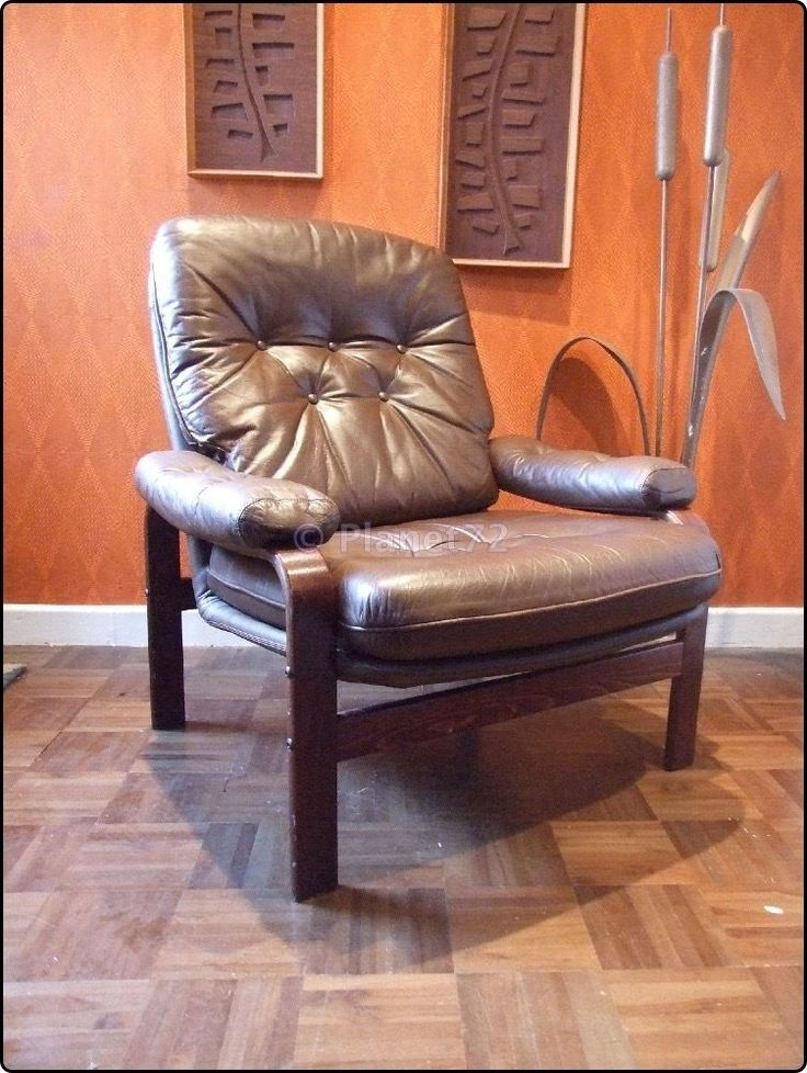Retro Vintage 70s 80s Swedish Bent Wood Leather Lounge Chair Chairs Pinterest Art And