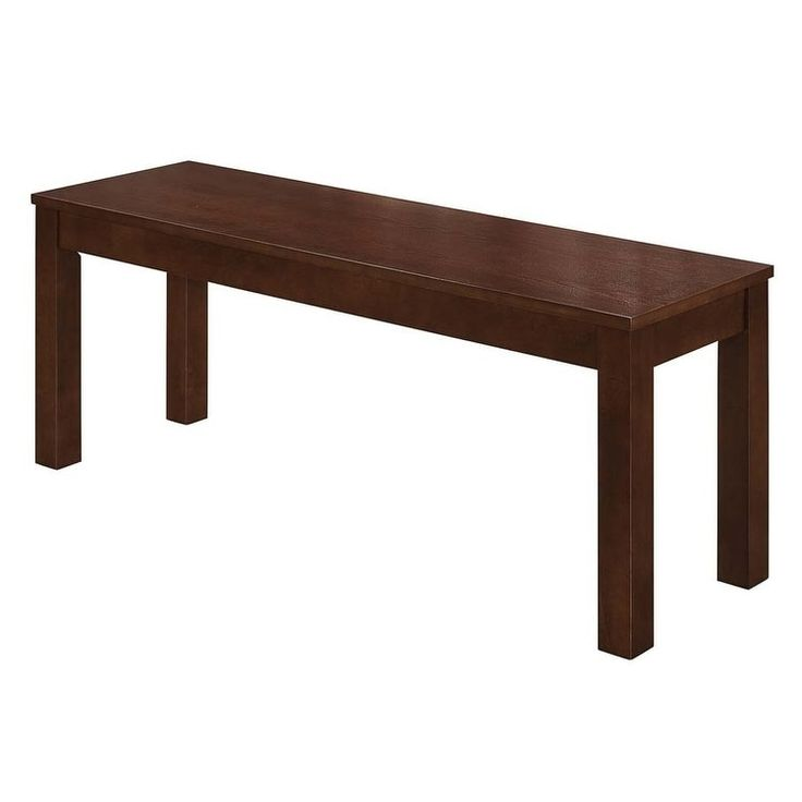 48-inch Homestead Simple Wood Dining Bench (Walnut), Brown