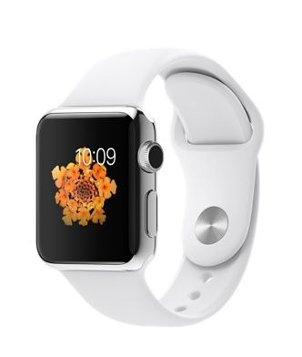 38mm Apple Watch with white sport band....picked this out and my sweet husband ordered it for me on launch day. I absolutely love it!