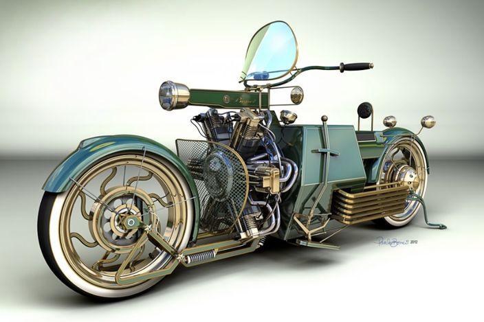 steampunk vehicles   Steampunk bike