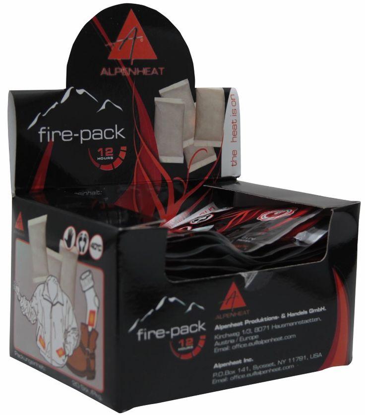 Alpenheat Fire Pack - Schnell soll es gehen und günstig soll es sein? BIOlogisch abbaubare Einmalwärmer halten 12 Stunden Finger, Füße und fpr Einfallsreiche sonstige Körperteile warm!