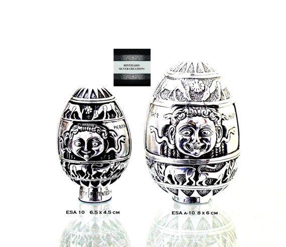 ACHILLES-GORGON'S HEAD. Handmade Silver by HintziadisCreations