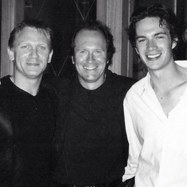 """From James D'Arcy's instagram:  """"With James Bond before he became James Bond and our Director, the amaaaazing novelist William Boyd, publicising The Trench in Cannes... #thetrench #danielcraig #williamboyd #cannes #jamesbond"""""""