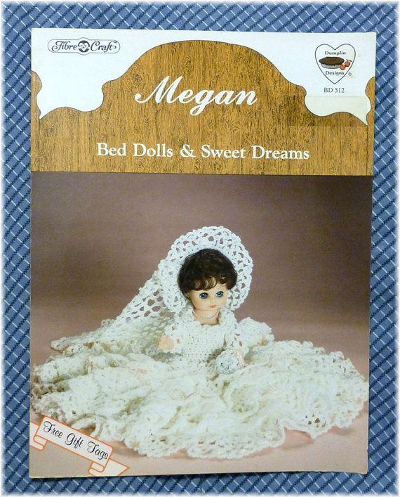 Bed Doll Crochet Pattern Fibre Craft 1987 Megan Cute