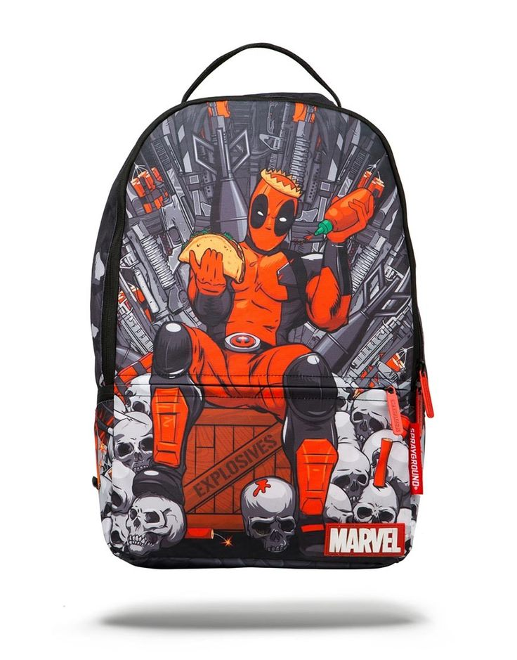 Deadpool's Throne of Hot sauce   Sprayground Backpacks