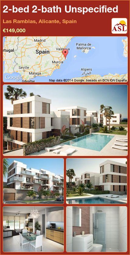 2-bed 2-bath Unspecified in Las Ramblas, Alicante, Spain ►€149,000 #PropertyForSaleInSpain