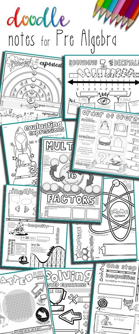 956 best algebra images on pinterest algebra 2 arch and arches pre algebra interactive scaffolded notes doodle notes or sketch notes help students fandeluxe Gallery