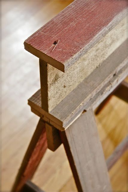 #1 Extenders Bar Wood Sawhorse Table With Separate Top Can Be Used 3  Different Ways