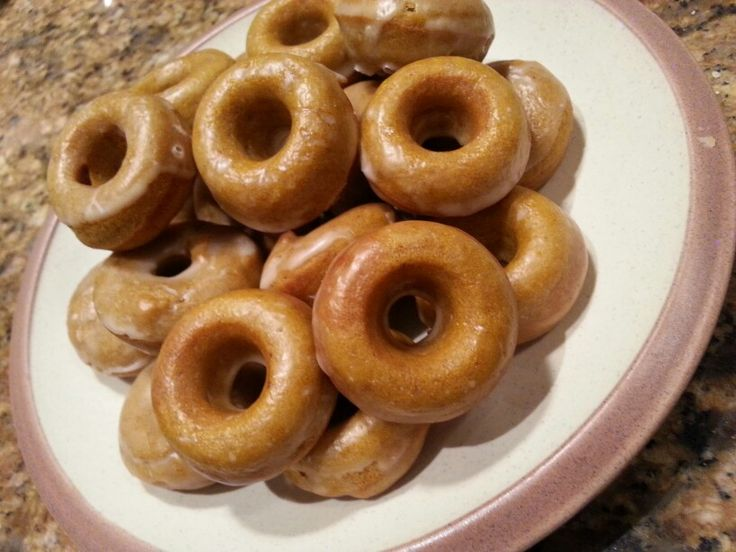 Glazed Pumpkin Donuts......because my hubby has a sweet tooth! :-)