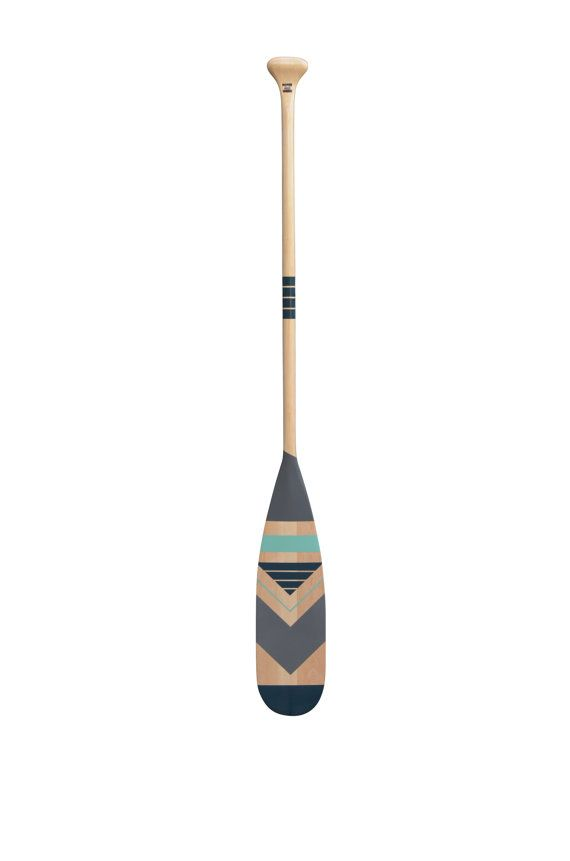 Decorative canoe oar navajo design  nautical inspiration for