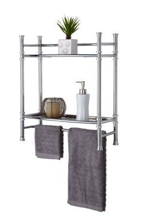 Best Living No Tools Wall Mount Countertop Shelf Chrome Bathroom Cabinetsbathroom