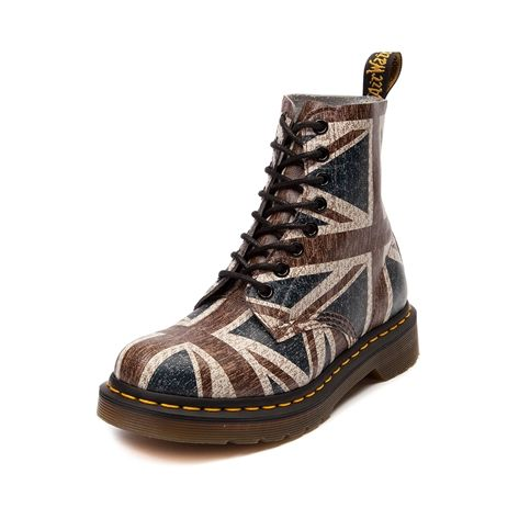 Womens Dr. Martens 8-Eye Union Jack Boot in Multi at Journeys Shoes. $139.99