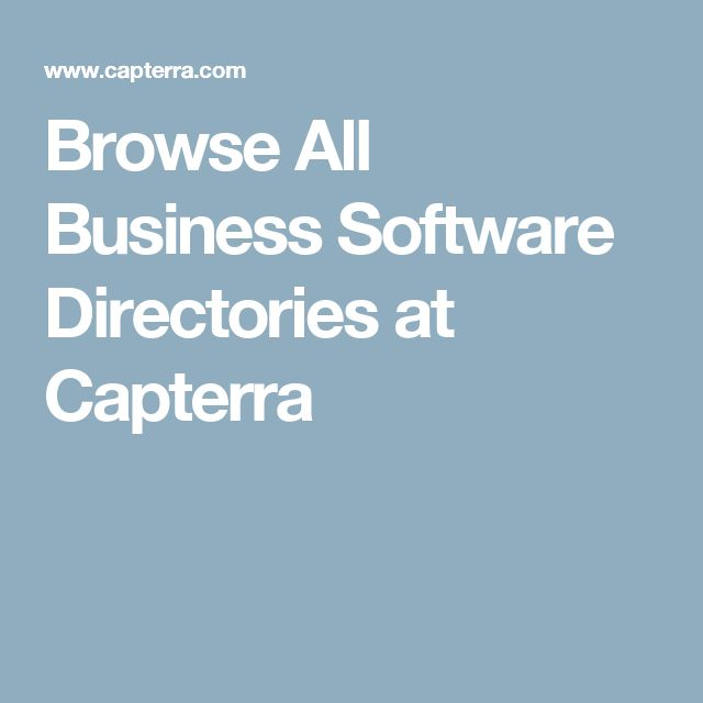 Browse All Business Software Directories at Capterra