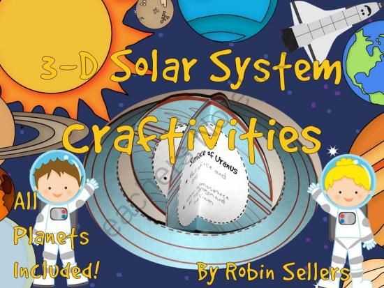 Solar System Craft - a 3D Solar System Craftivity For All Planets from Robin Sellers on TeachersNotebook.com -  (60 pages)  - Your students will create a 3D solar system report with this craft.