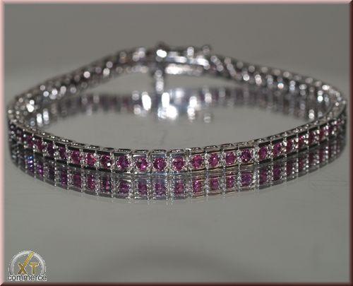 Diamantring / Diamantarmband / Diamantschmuck: Pulsera de oro blanco 10K de 3.50 Quilates Rubies