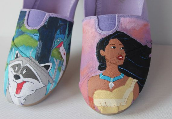 Disney's Pocahontas Hand Painted TOMS by justinachristine on Etsy