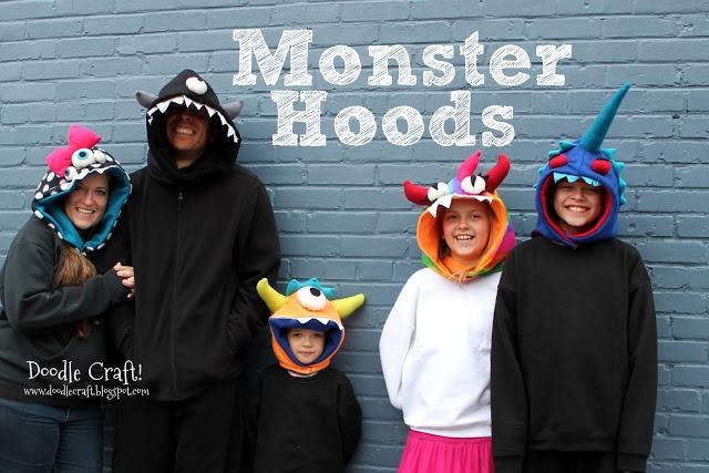 Monster Hoods for the Family!  Great homemade gift for kids!