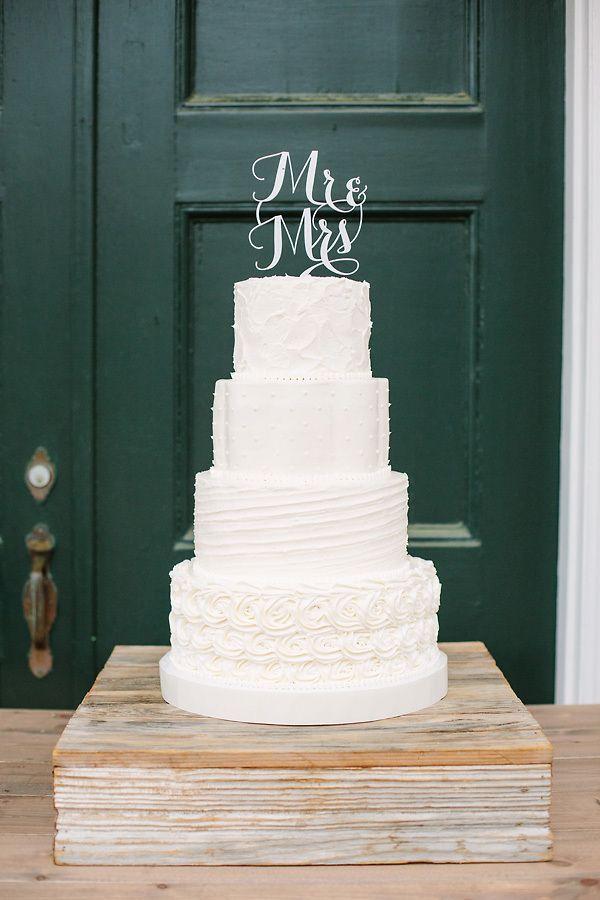 Textured White Wedding Cake   Red Fly Studio https   www theknot
