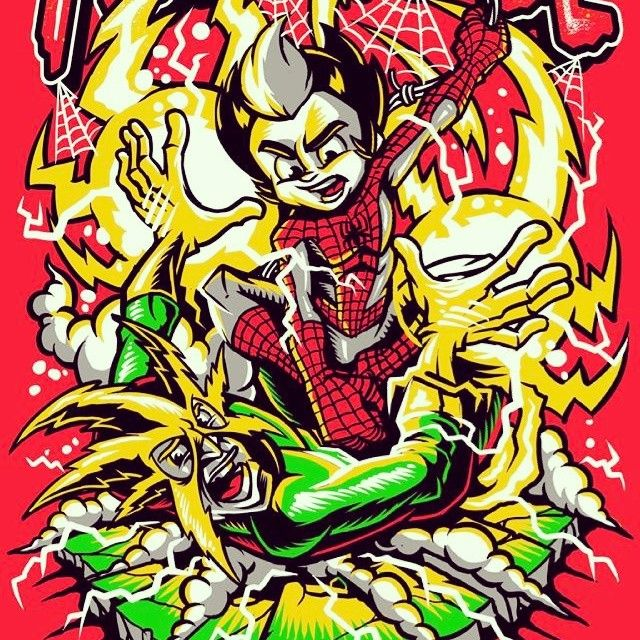 Bust that electro #spiderman #electro #illustration #marvel #comics #drawing #artwork #art #bust #iamforhire #hireme #instacreate #instamood #instahero #tshirt #tshirtdesign #vectorart #bestvector #awesome #instapic #smashed #busted