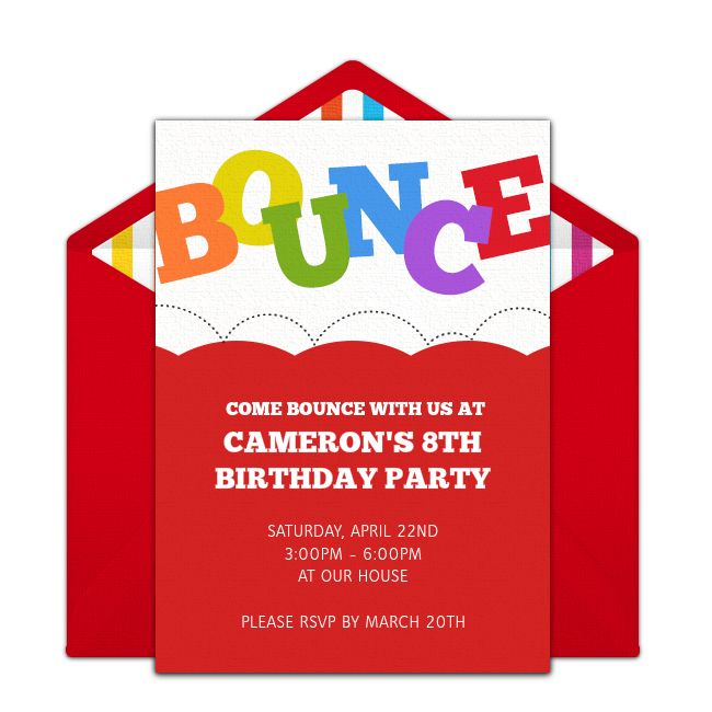 Best 25 Bounce house birthday ideas – Pump It Up Party Invitations