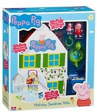 PEPPA PIG HOLIDAY SUNSHINE VILLA PLAYHOUSE WITH PEPPA & GEORGE FIGURES NEW TOY