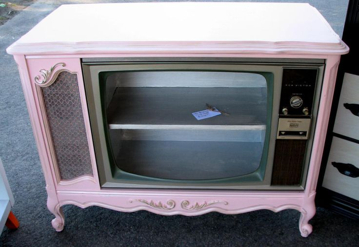 Furniture made from a 1940's console TV . . . so cool . . .