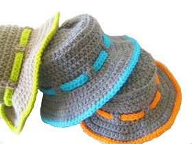 For the Love of Crochet Along: Trekkers and Matching Sunhat for Boy Babies