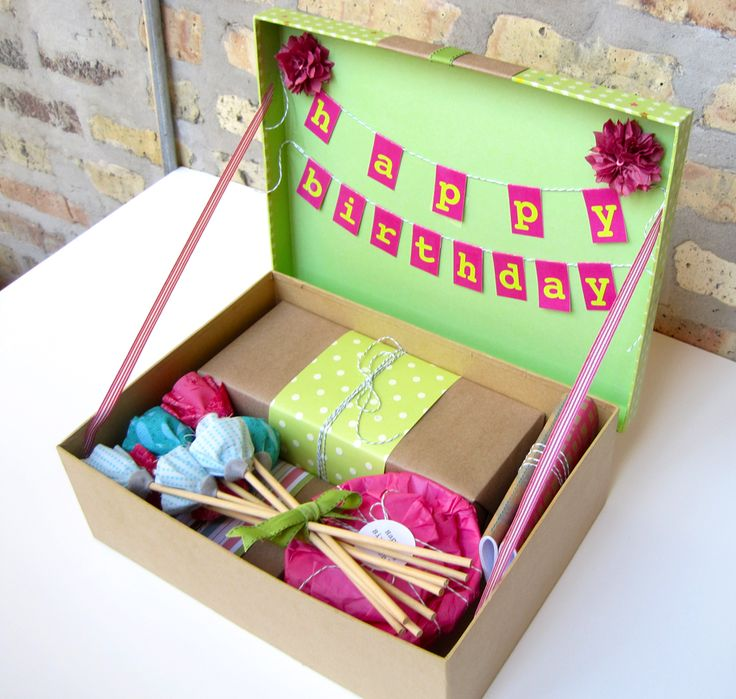 Best 25 birthday box ideas on pinterest diy birthday for B day decoration ideas