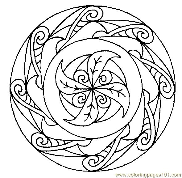 140 best Mandala Coloring Pages images on Pinterest Coloring