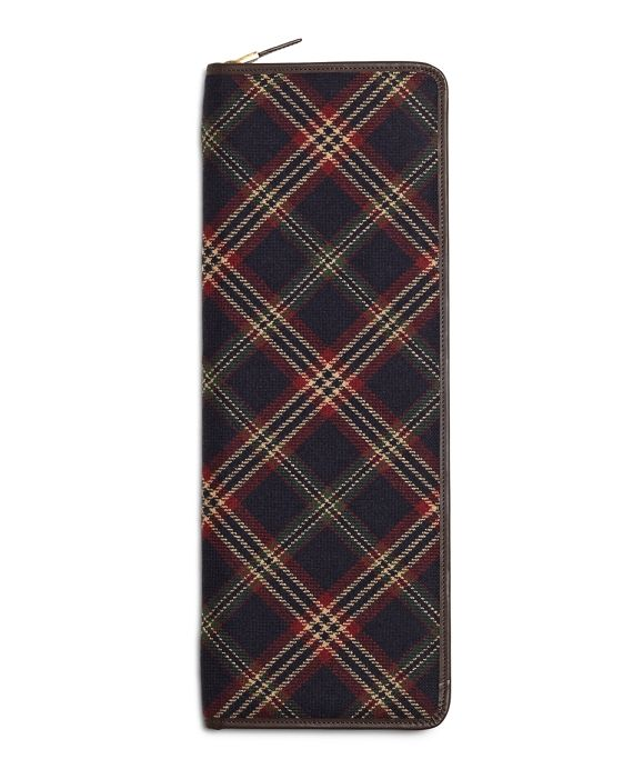 Brooks Brothers Signature Tartan Tie CaseNavy