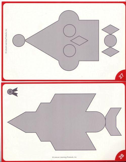 Mozaïek voor kleuters, leg de grijze figuren met de gekleurde mozaiëkstukjes of met plakkertjes