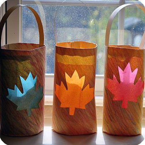 Ten Kid-Friendly Fall Crafts!  #fall #diy