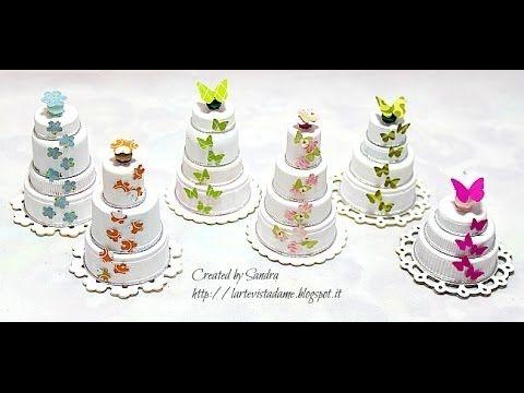 Riciclo creativo tutorial: Come riutilizzare i tappi di plastica per creare piccole torte - YouTube