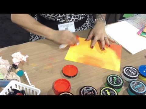CHA 2015 - Dyan demos her new paints and how to apply them - Part Two