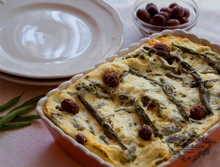 ricetta lasagne fagiolini e ricotta, peccato di gola