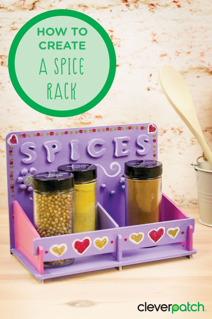 Just put it together and you have a spice rack! Great for Mother's Day craft
