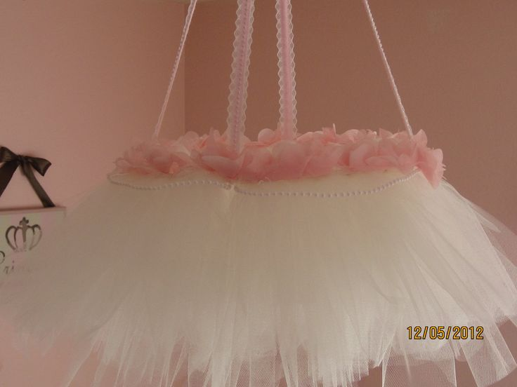 Tutu chandelier mobile... add crystals