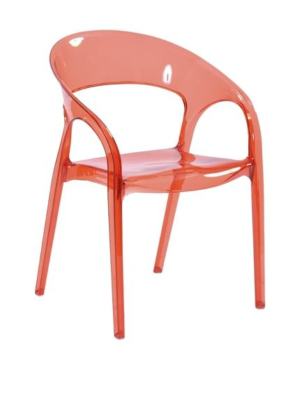 Whiteline Orti Chair (Set Of Orti Chair: Polycarbonate Plastic Chair  Measurements: W X D X H Care: Wipe With A Damp Cloth Material:  Polycarbonate Plastic ...
