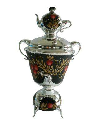 Oberfränkische Glas Design 5804 / 1 & with Berries Samovar Glass Ornament 18 CM Silver