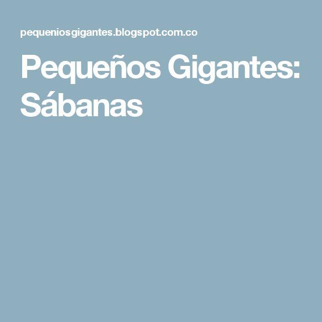Pequeños Gigantes: Sábanas