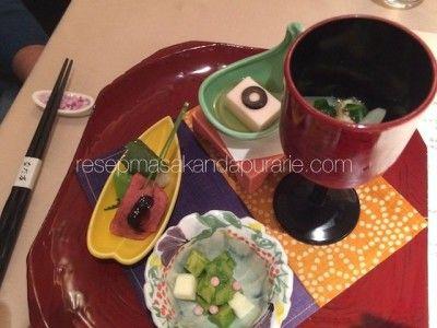 Menu makanan Jepang di Tokyo