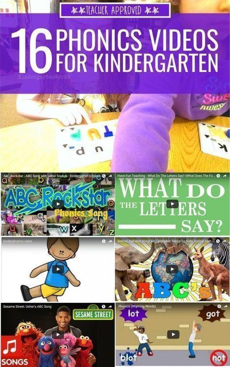 16 Phonics Videos for Kindergarten