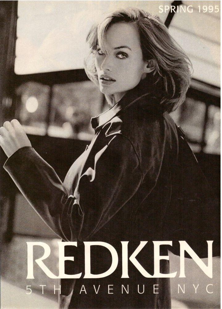 1995 Redken Hair Amber Valletta 3-Pg Retro Print Ad Vintage Advertisement 90s