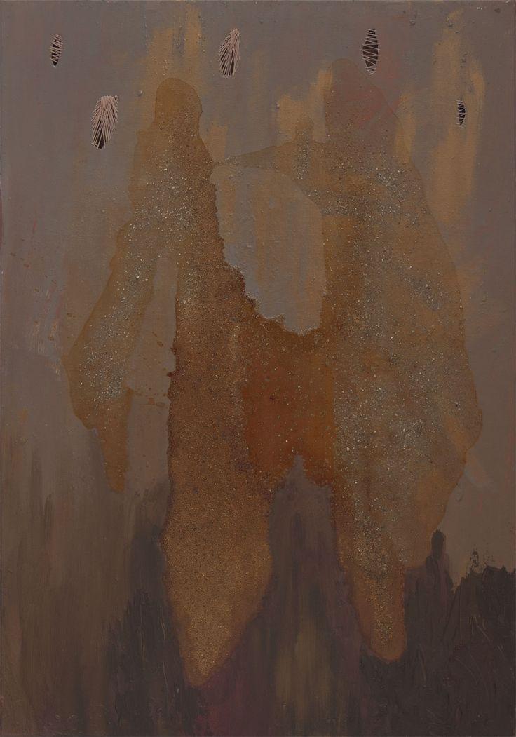 """The rain"". 50x70cm, 2011. Acryl, resin on canvas. You can buy it on this gallery: http://www.alesztuka.com/anna_korpyta/deszcz .  korpyta.com #painting #abstract #abstractpainting #korpyta #annakorpyta #informel #hole http://korpyta.com"