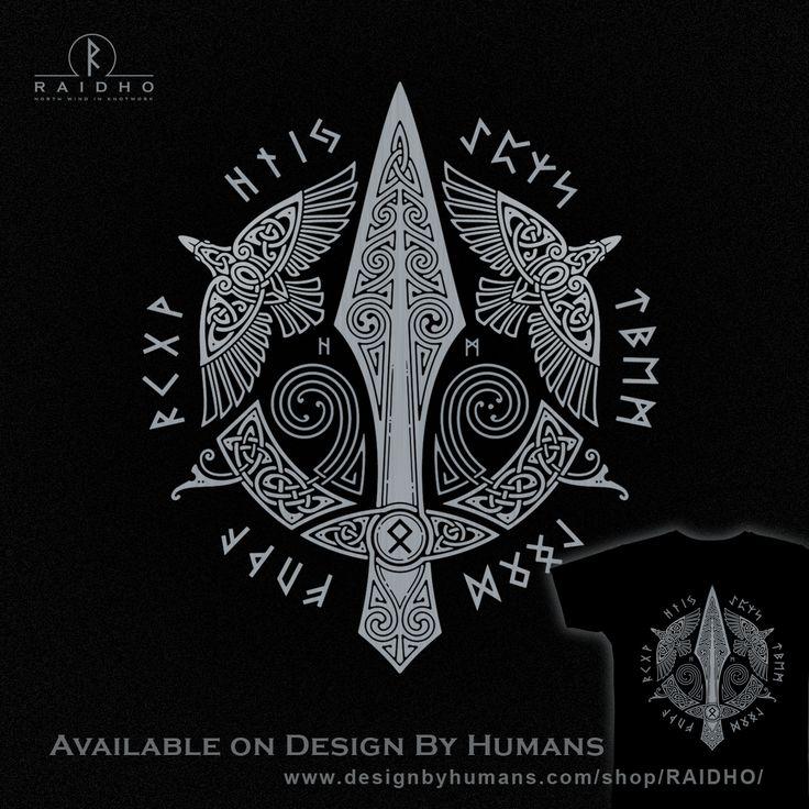 GUNGNIR Odin's Spear T-Shirt by RAIDHO